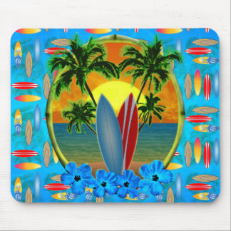 Sunset And Surfboards Mouse Pads