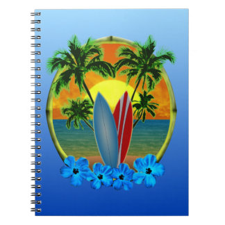 Sunset And Surfboards Notebook