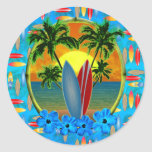 Sunset And Surfboards Stickers