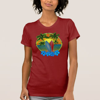 Sunset And Surfboards T Shirts