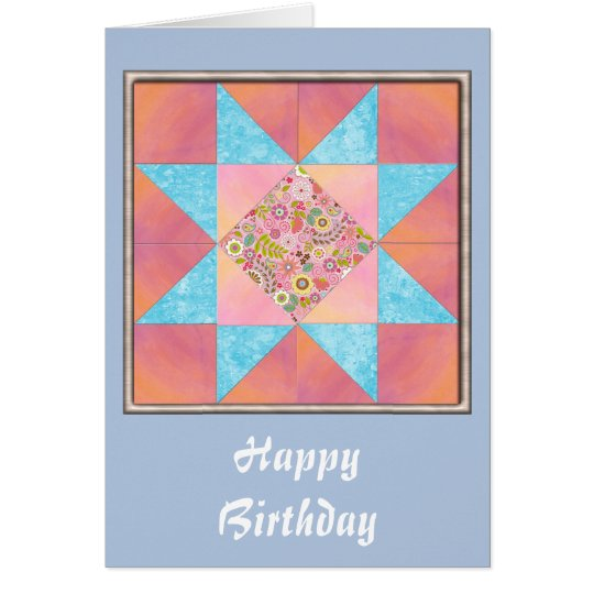 Sunset and Water Floral Quilt Card