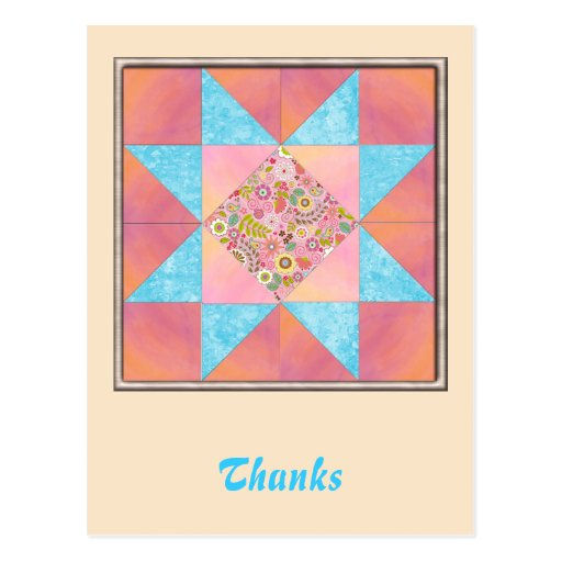 Sunset and Water Floral Quilt Postcard