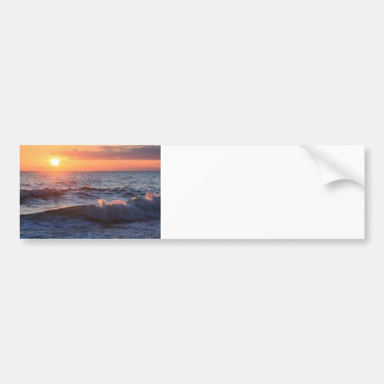 Sunset and Waves Bumper Sticker
