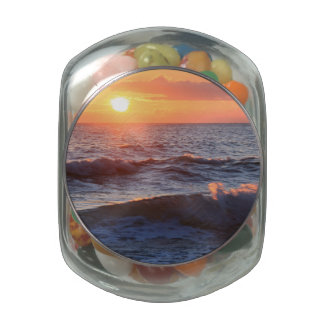 Sunset and Waves Jelly Belly Candy Jar