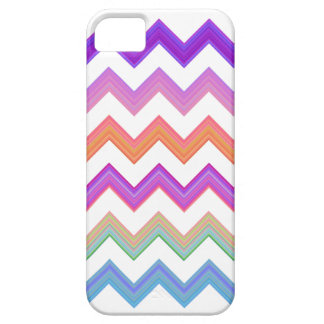 Sunset and white chevron iPhone 5 cases