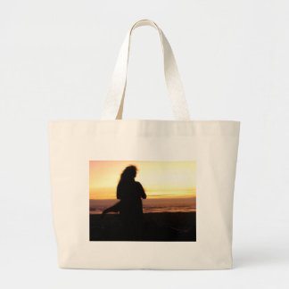 Sunset and Wind Large Tote Bag
