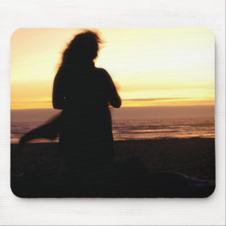 Sunset and Wind Mouse Pad