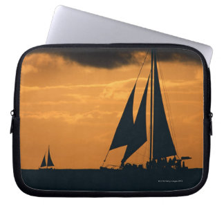 Sunset and Yacht 2 Laptop Computer Sleeve