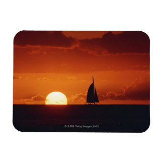 Sunset and Yacht 2 Magnet