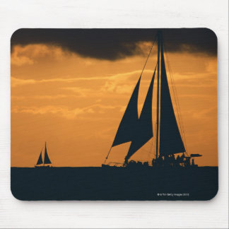 Sunset and Yacht 2 Mouse Pad