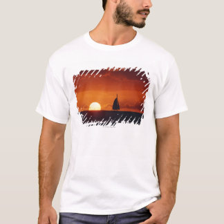 Sunset and Yacht 2 T-Shirt