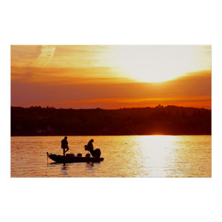 Sunset Anglers Poster