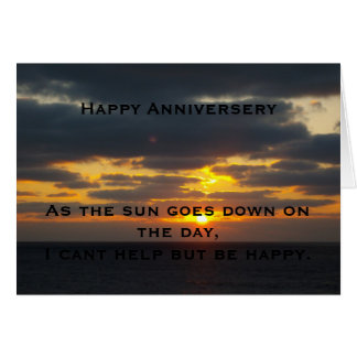 sunset anniversery card