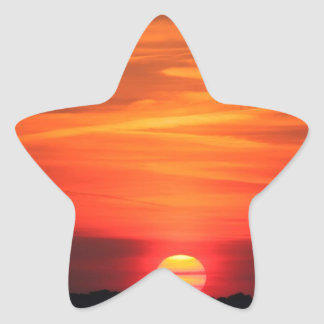 Sunset Apocalypse Later Star Sticker