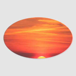 Sunset Apocalypse Later Oval Stickers