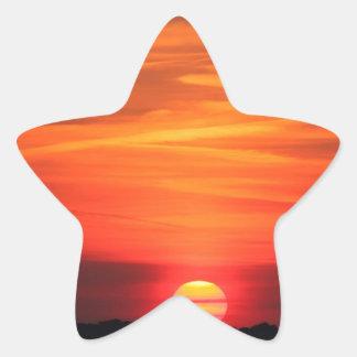 Sunset Apocalypse Star Sticker