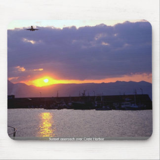 Sunset approach over Crete Harbor Mousepad