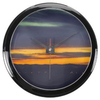 Sunset Aqua Clock