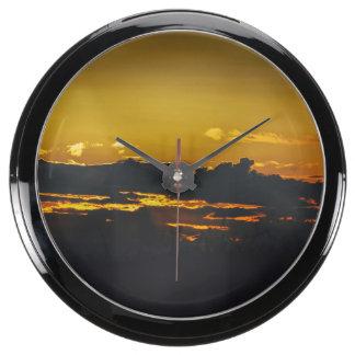 Sunset Aqua Clocks