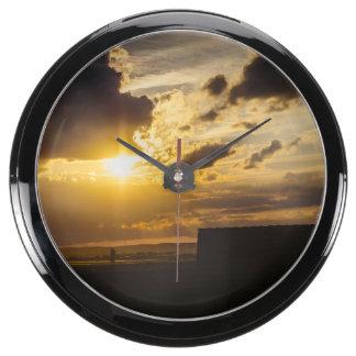 Sunset Aquarium Clocks