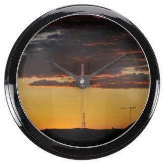 Sunset Aquavista Clock