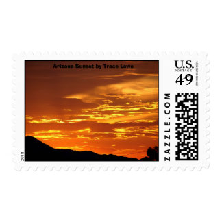 Sunset, Arizona Sunset by Trace Lowe Postage