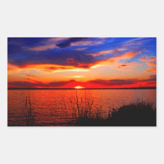 Sunset Art Rectangular Sticker