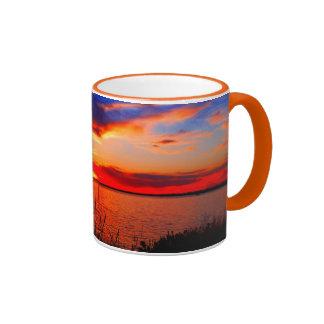 Sunset Art Ringer Coffee Mug