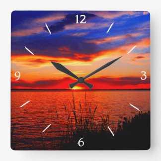 Sunset Art Square Wall Clock