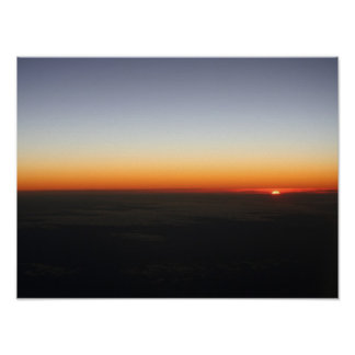 Sunset at 35,000ft Poster