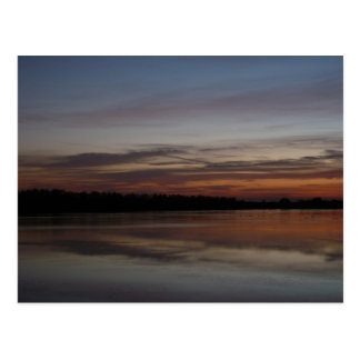 Sunset at Abberton 2 Postcard