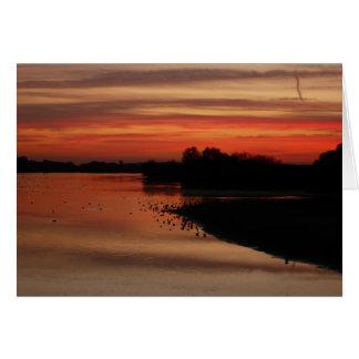 Sunset at Abberton Card