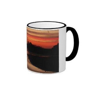 Sunset at Abberton Ringer Coffee Mug