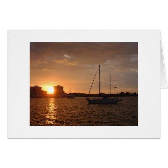 Sunset At Anchor, Lake Worth FL. Card