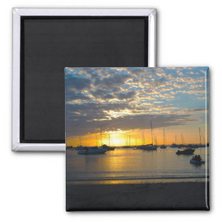 Sunset at Anchorage, Kawau Island, New Zealand 2 Inch Square Magnet