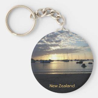 Sunset at Anchorage, Kawau Island, New Zealand Basic Round Button Keychain