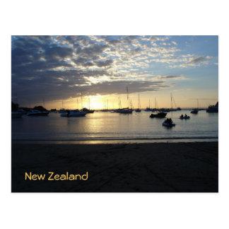 Sunset at Anchorage, Kawau Island, New Zealand Postcard