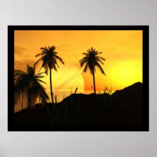 Sunset at Argon Beach Poster