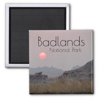 Sunset at Badlands National Park Magnet