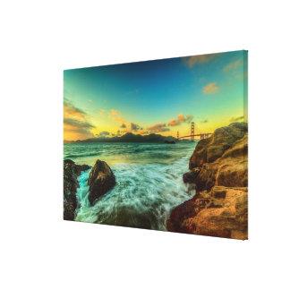 Sunset at Baker Beach Canvas Print