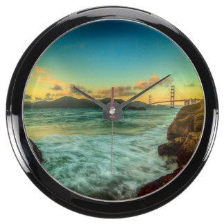 Sunset at Baker Beach Fish Tank Clock