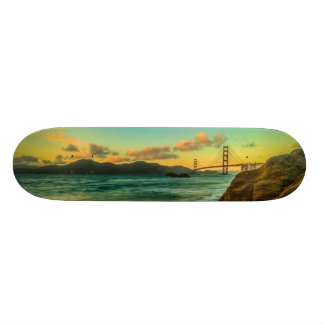 Sunset at Baker Beach Skateboard Deck