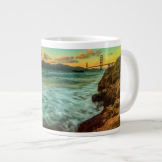 Sunset at Baker Beach 20 Oz Large Ceramic Coffee Mug