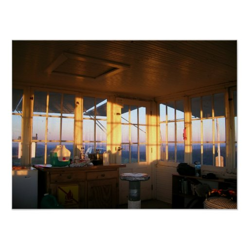 Sunset at Bald Butte Lookout Poster