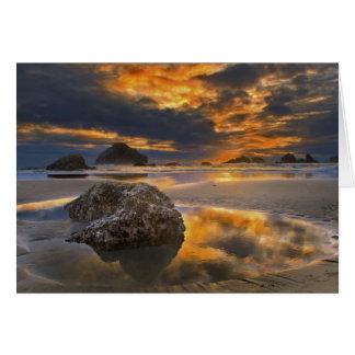 Sunset at Bandon, Oregon Card