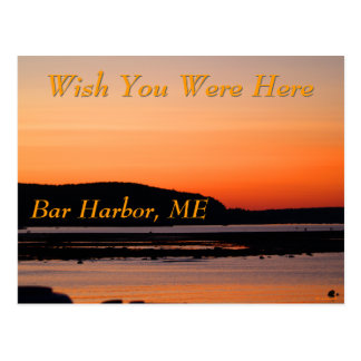 Sunset At Bar Harbor Postcard