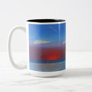 Sunset at Bayport Two-Tone Coffee Mug