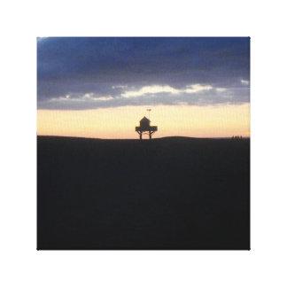 Sunset at Bethells Beach Canvas Print