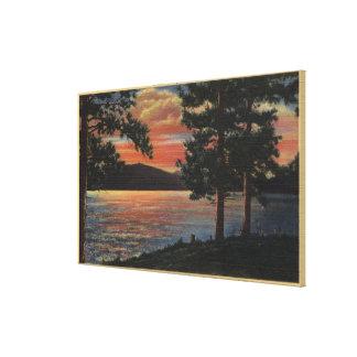 Sunset at Big Bear Lake Canvas Print