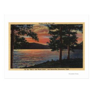 Sunset at Big Bear Lake Postcard